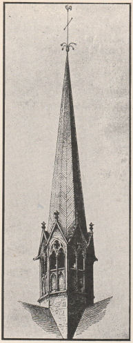 Spire that existed in the 12th century.