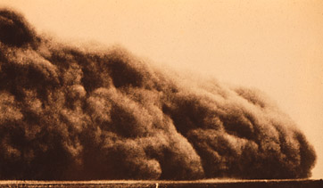 Mid-west dust bowl, 1930s