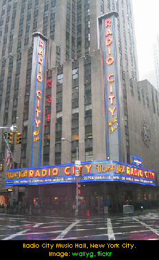Radio City Music Hall, New York City. Image: wallyg, flickr