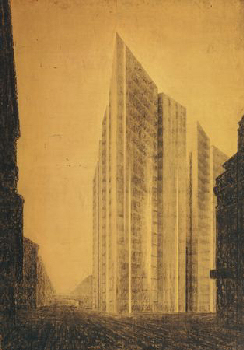 Van der Rohe skyscraper project, Germany 1921. Image: � 2008 Artists Rights Society (ARS), New York / VG Bild-Kunst, Bonn