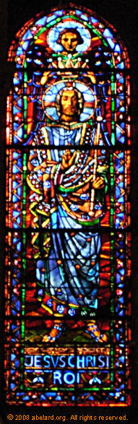 Some of the twentieth-century glass, Lausanne cathedral