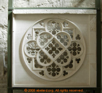 Maquette of the rose window's stone tracery