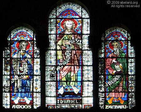 Prophets stained glass windows.