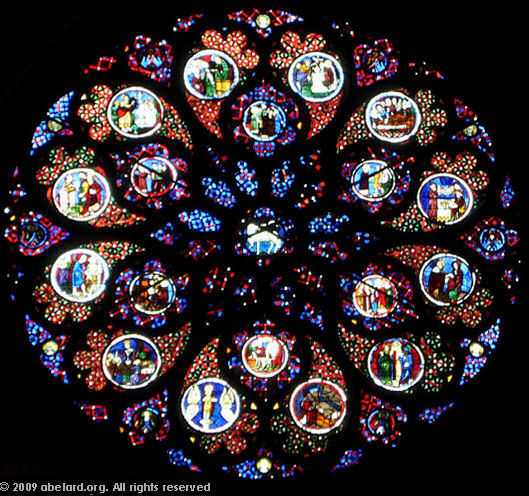 The central rose window at Lyon cathedral
