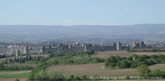 The medieval walled city of Carcasonne