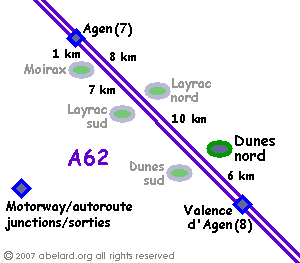 sketch map locating Dunes aire