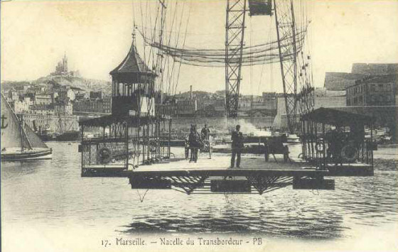 Nacelle (gondola) on the now defunct Marseilles transpoter bridge