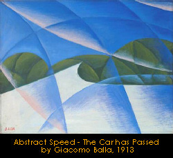 Abstract speed - the car has passed by Giacomo Balla, 1913