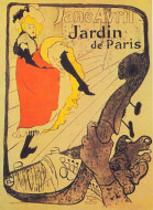 Jane Avril at the Jardin de Paris by Toulouse Toulouse-Lautrec