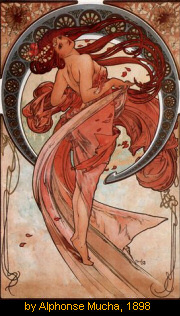 Dancer by Alphonse Mucha, 1898