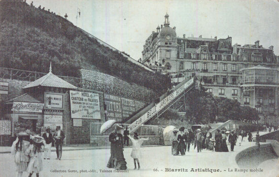 Mobile rampe at Biarritz, about 1906
