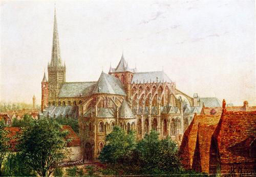 11th century cathedral of Cambrai