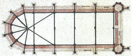 Drawing by Lassus of reinforcing bars