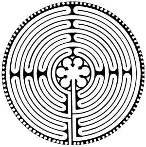 The labyrinth at Chartres - stylysied