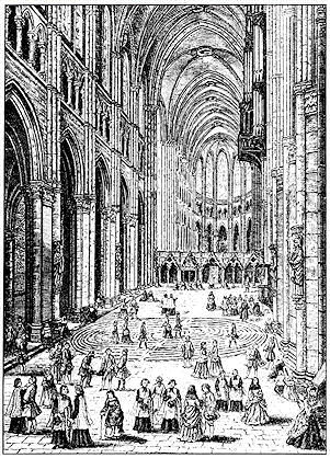 Labyrinth at Chartres, late 17th century