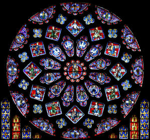 North rose at Chartres cathedral