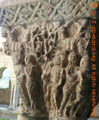 carving on cloister column