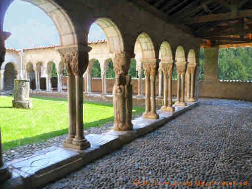 Romanesque cloisters at Saint-Bertrand-de-Comminges