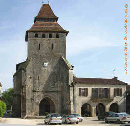 Fortified church at La Bastide d'Armagnac