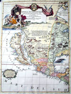 a sheet map made by Vincenzo Coronelli, which was used on the Marty terrestial globe.Image credit: cartaweb