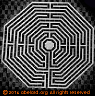 Amiens labyrinth drawn by Jules Gailhabaud