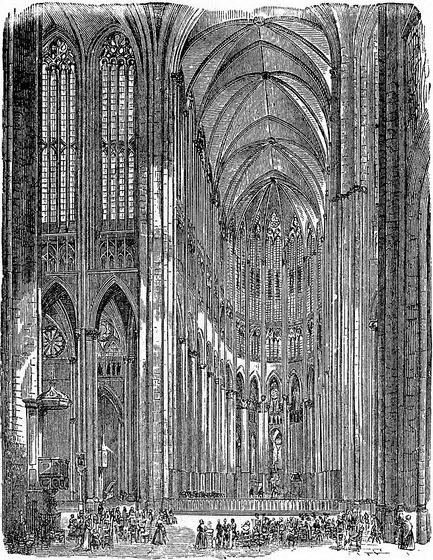 The interior of Beauvais cathedral by Wilhelm Lubke