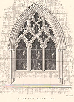 Gothic window, Beverley Church, England