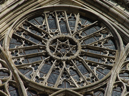 South rose window, Laon cathedral. Image credit:  Andrea Kirkby