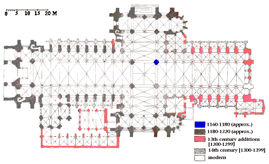 Plan of Laon cathedral