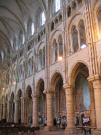 Interior of Laon cathedral, showing its four levels. Image credit: Michael Leuty