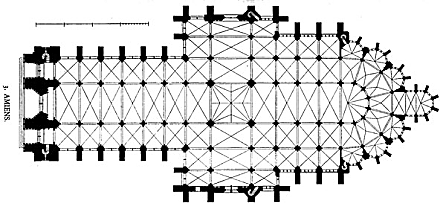 plan of Amiens cathedral
