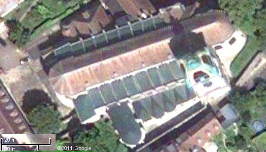 Satellite view of Besancon cathedral