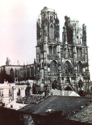 Toul cathedral after German bombing on 20 June 1940
