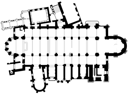 Floor plan of Besancon cathedral