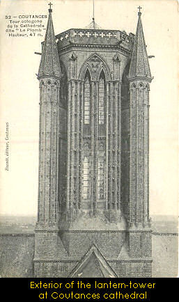 The lantern tower on Coutances cathedral