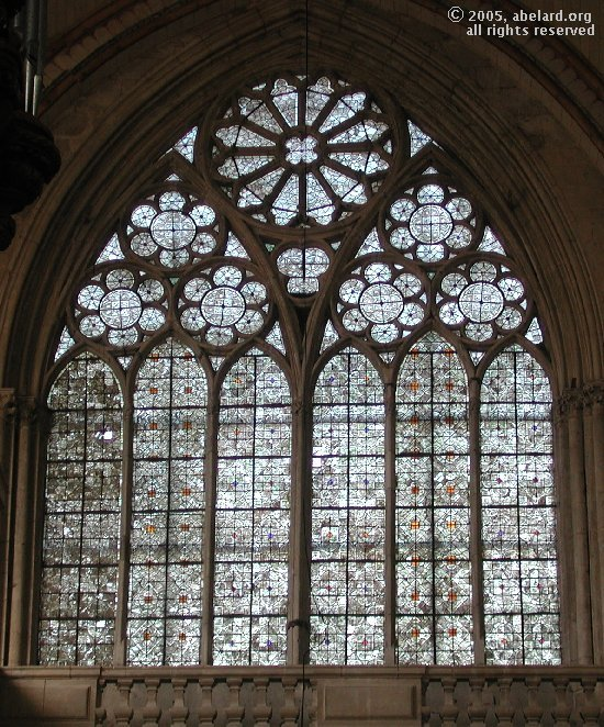 grisaaille window at Poitiers cathedral
