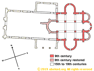 Floor plan  of the oratory at Germigny-des-Prés