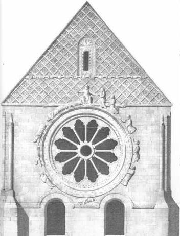 Wheel of fortune at St Etienne's, Beauvais [engraving]