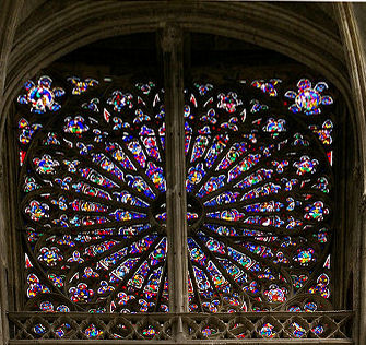 Lozenge rose window at Tours cathedral