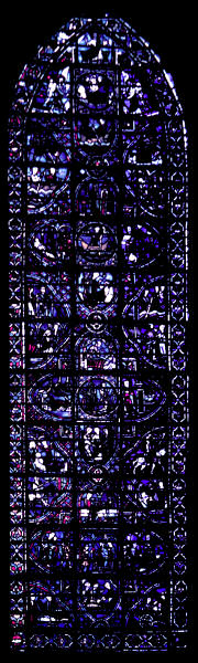 A story window in the Cathedral at Rouen.