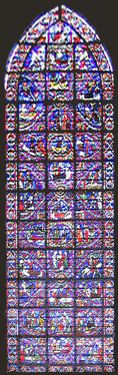 Stained glass window from Rouen cathedral