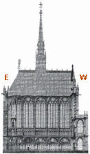 Sainte-Chapelle, drawing by Decloux 1857
