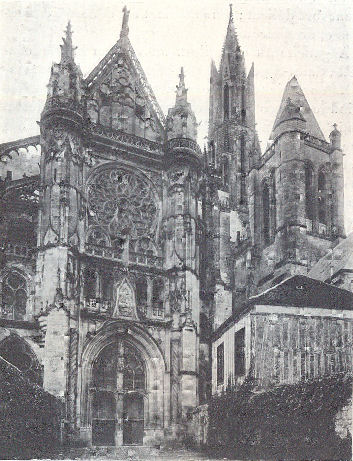 North facade of Senlis catedral