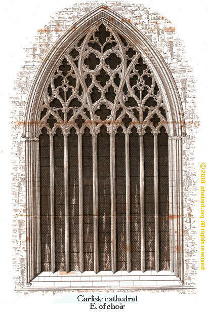 Nine-lancet (light) window, Carlisle cathedral