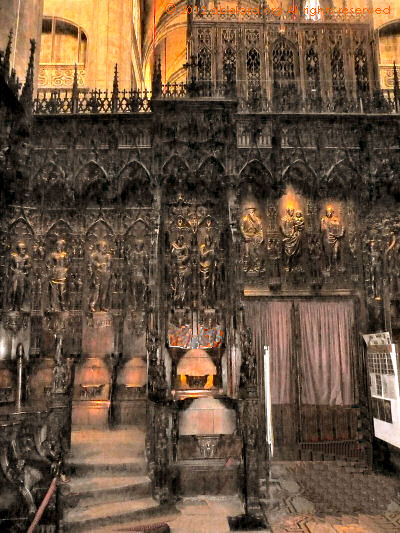 Carvings in the Auch cathedral choir