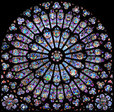 rayonnant rose window, south transept, Notre Dame de Paris