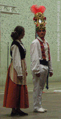 Costumes dating from the eighteenth century worn by Basque folk dancers.