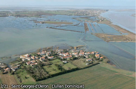 n the region of St Georges d'Oleron, flooded after Storm Xanthia Image: sudouest.com