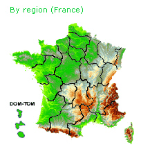 IGN map of France