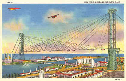 postcard of Chicago Sky Ride